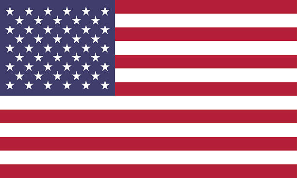 american flag (official colors) - american flag stock illustrations