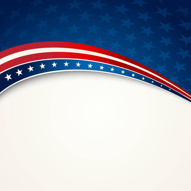 american flag, vector patriotic background - american flag background stock illustrations