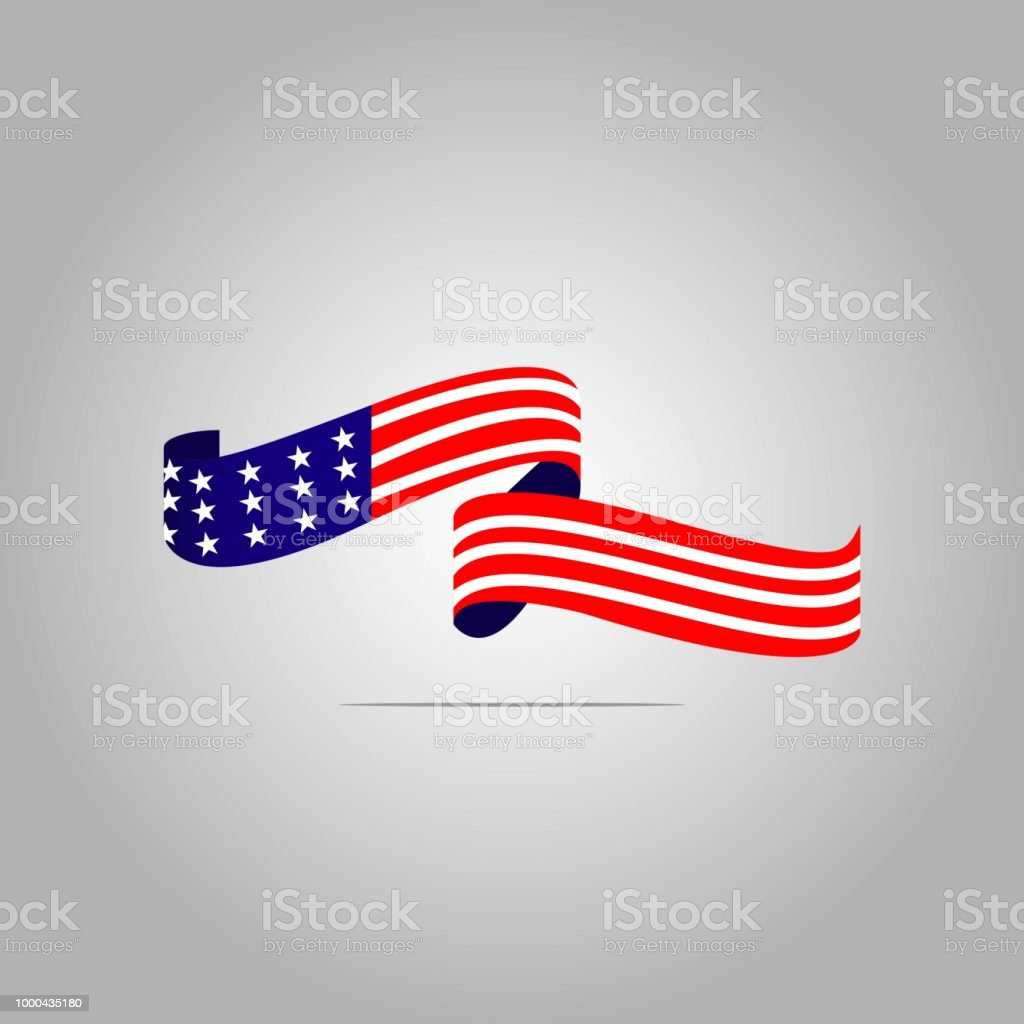 American Flag Vector Template Design Illustration
