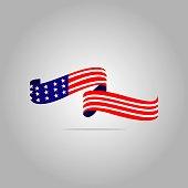 American Flag Vector Template Design Illustration