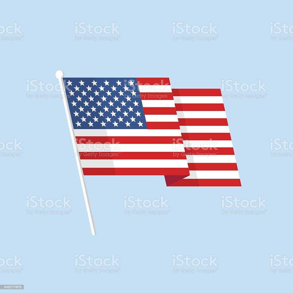 American flag vector vector art illustration