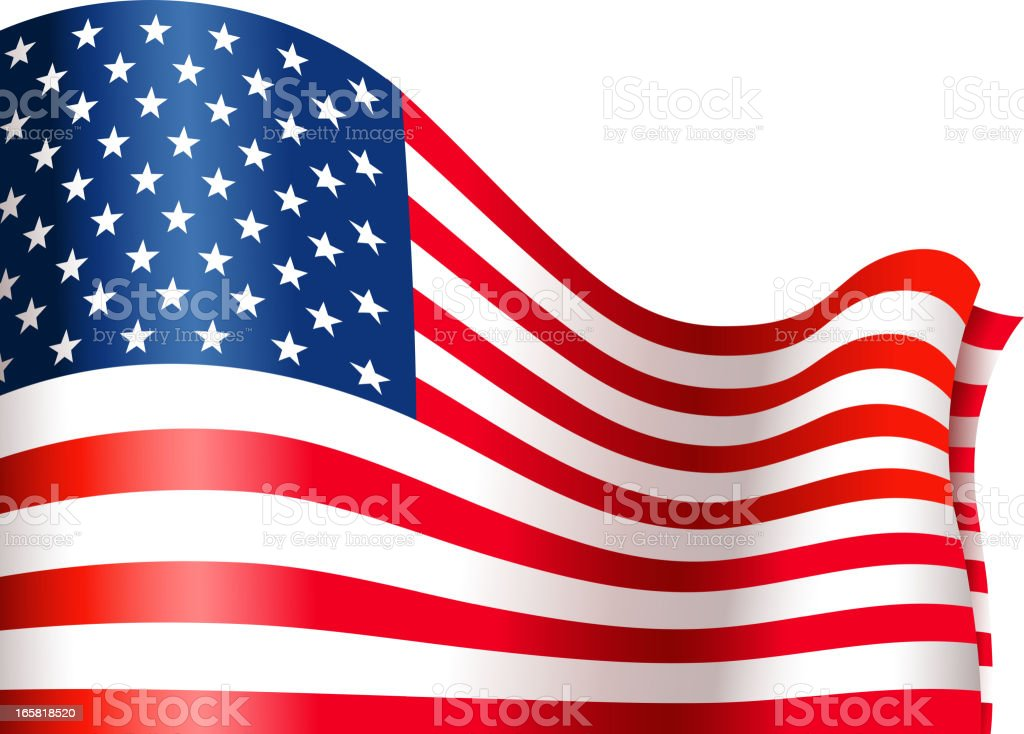 american flag view royalty-free stock vector art