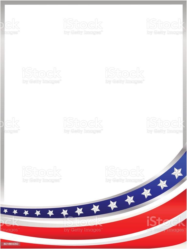 Amerikanische Flagge Wave Rahmen Vektor Illustration 801664050 | iStock
