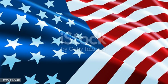 istock American flag waving. Vector background for patriotic and national design banner. Vector illustration. 1227117740