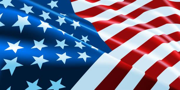 американский флаг развевается. векторный фон для патриотического и национального дизайнерного баннера. векторная иллюстрация. - american flag stock illustrations