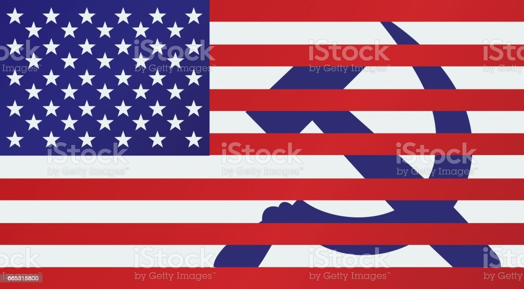 e2de21ad9ff American Flag With Hammer And Sickle royalty-free american flag with hammer  and sickle stock
