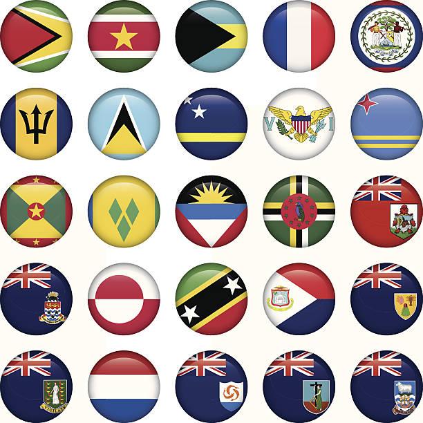 bildbanksillustrationer, clip art samt tecknat material och ikoner med american flags soft round buttons - lucia