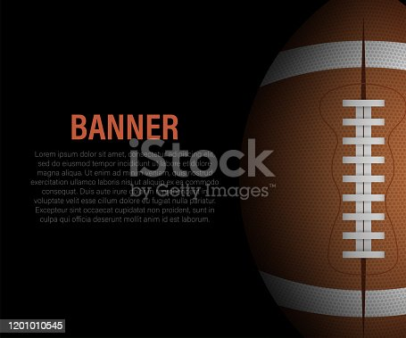 istock American Football and rugby sports. Football banner. Vector stock illustration. 1201010545