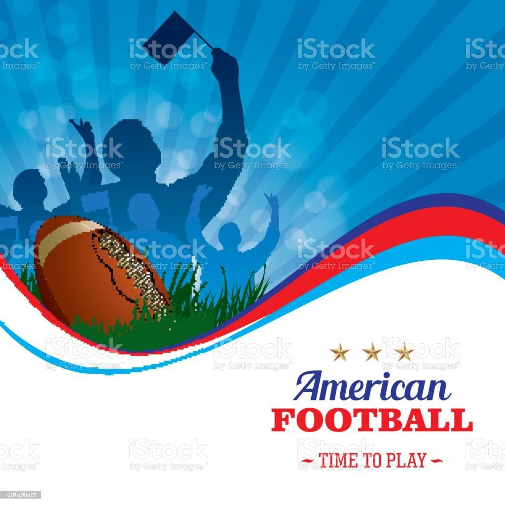 American Football Background vector art illustration