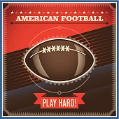 American football background with retro design.