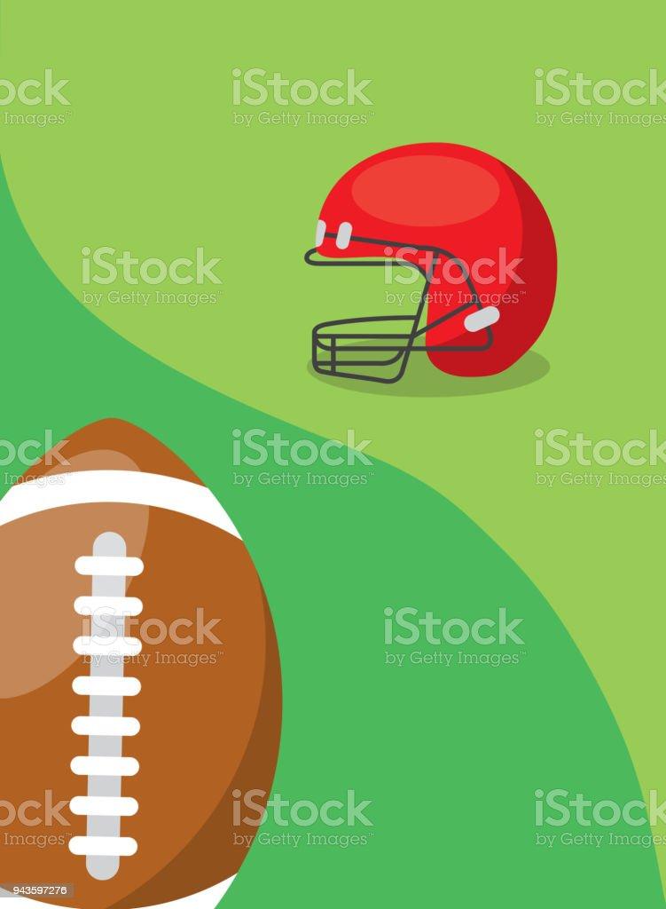 482c91e9f capacete de proteção e bola de futebol americano vetor de capacete de  proteção e bola de