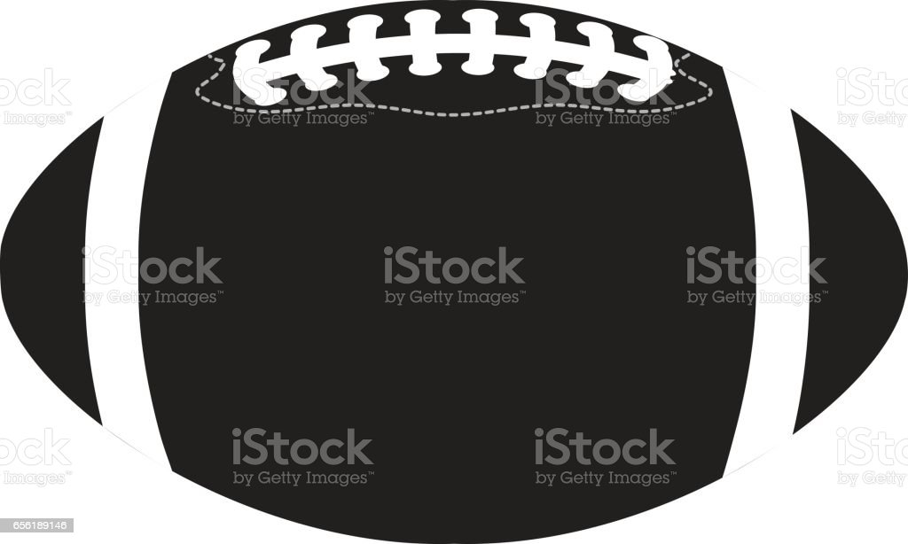 American football ball black vector art illustration
