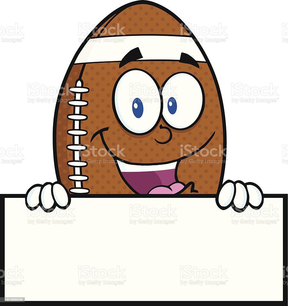 Ballon de football am ricain mascotte personnage de dessin anim avec signe vierge vecteurs - Dessin football americain ...