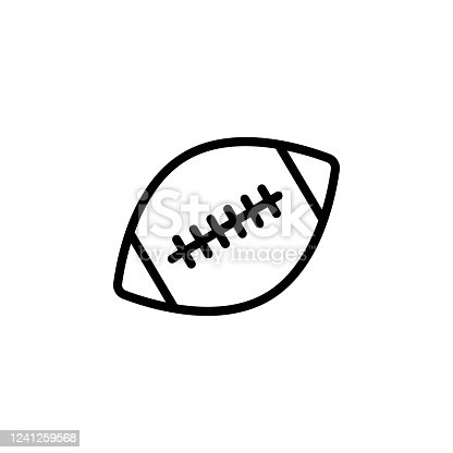 istock American football ball icon. Element of Education icon. Thin line icon 1241259568
