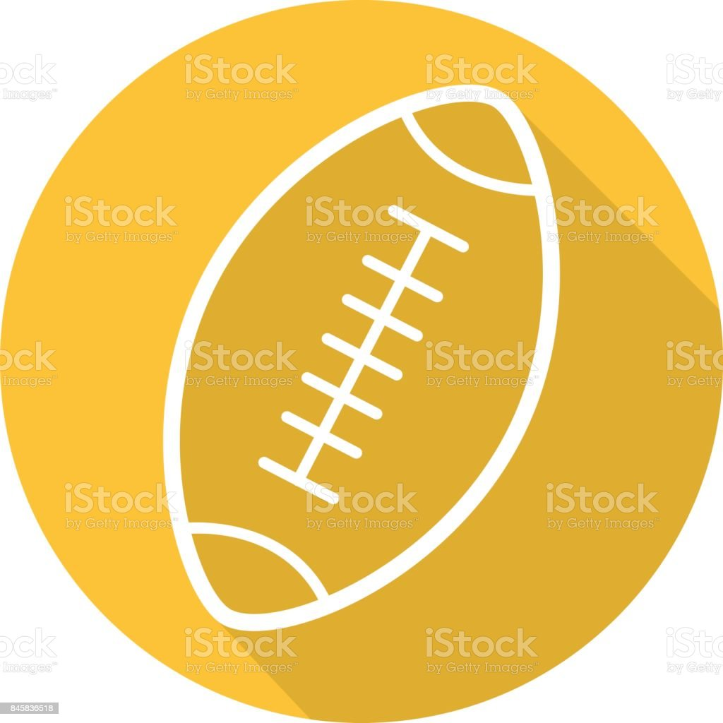 American football ball icon vector art illustration
