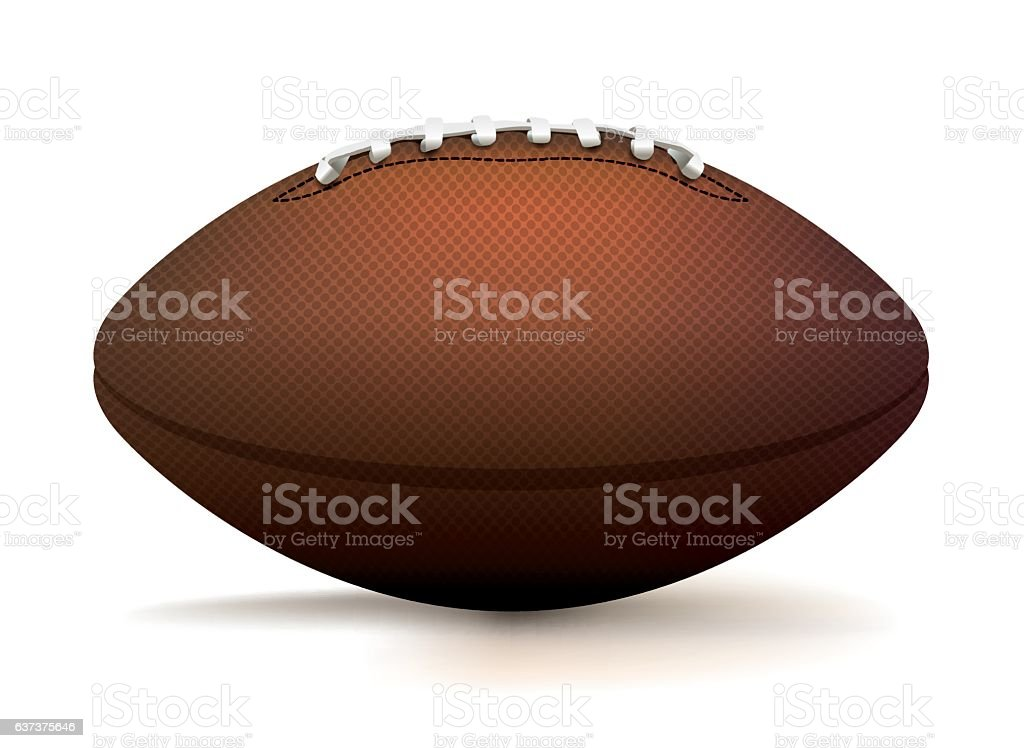 American Football Ball Isolated on White Illustration vector art illustration