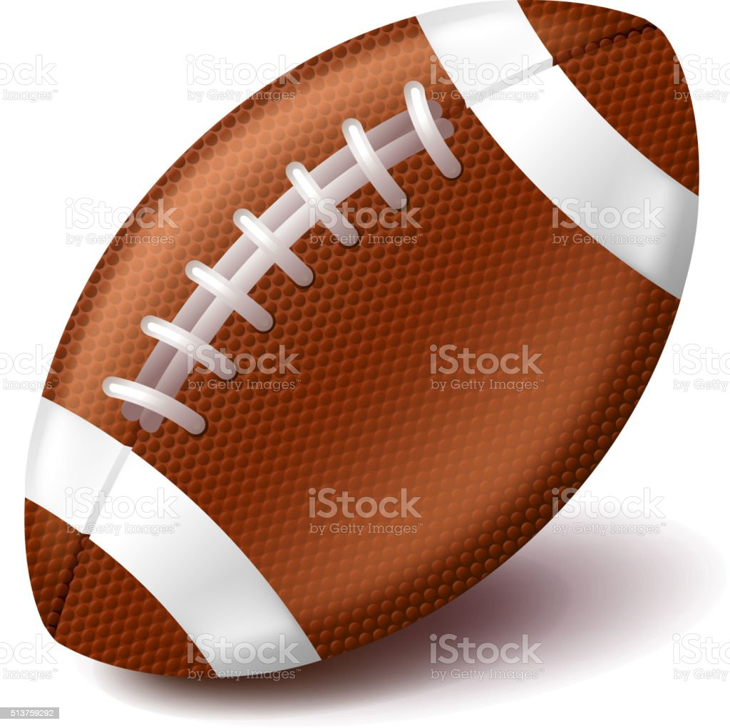 Ballon de football américain seul sur blanc-Illustration - Illustration vectorielle
