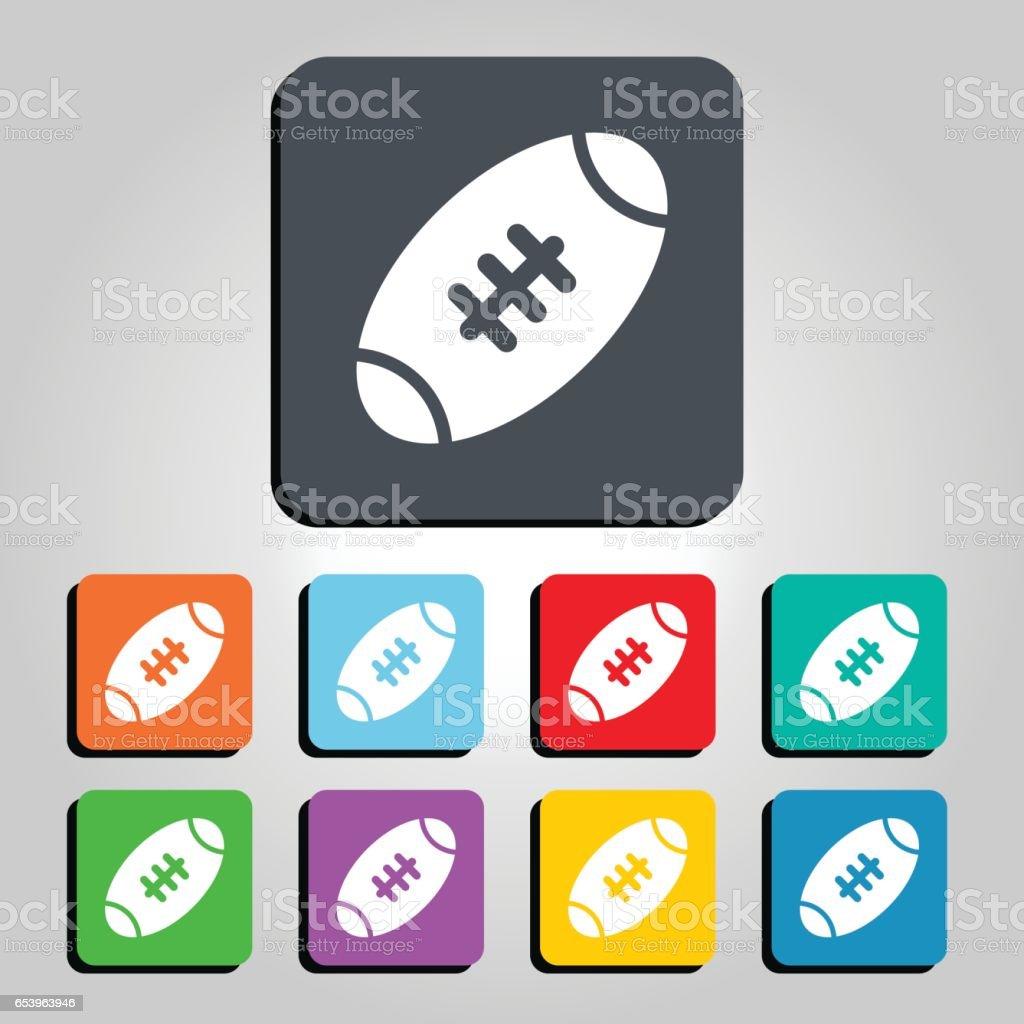 American Football Ball Vector Icon Illustration vector art illustration