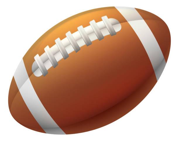 Pelota de futbol americano - ilustración de arte vectorial