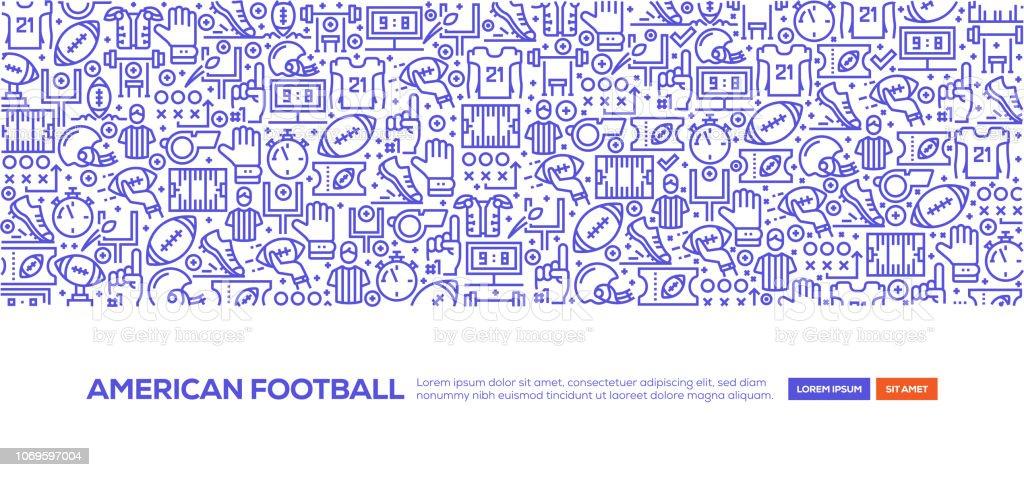 American Football Banner vector art illustration