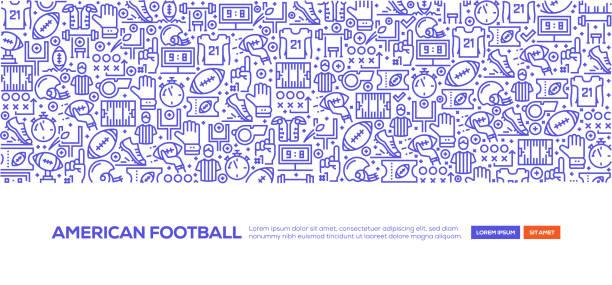 美國足球橫幅 - 美式足球 團體運動 幅插畫檔、美工圖案、卡通及圖標