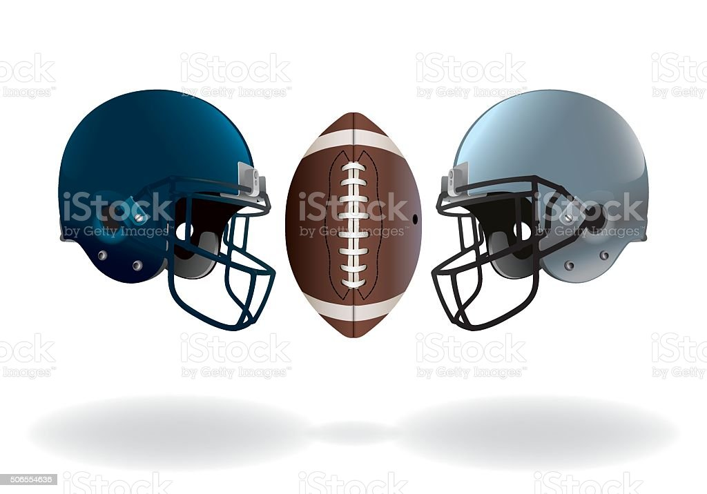 American Football Championship Game vector art illustration