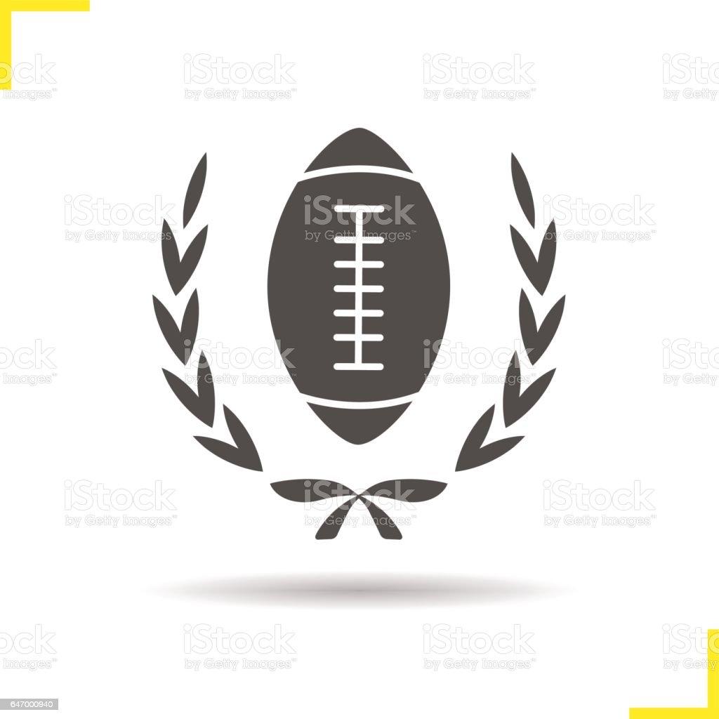 American football championship icon vector art illustration