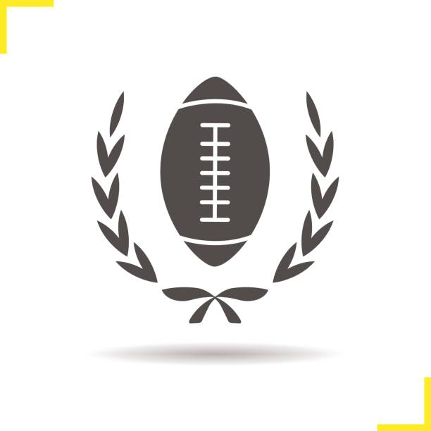 American football championship icon American football championship drop shadow icon. Isolated vector illustration american football league stock illustrations