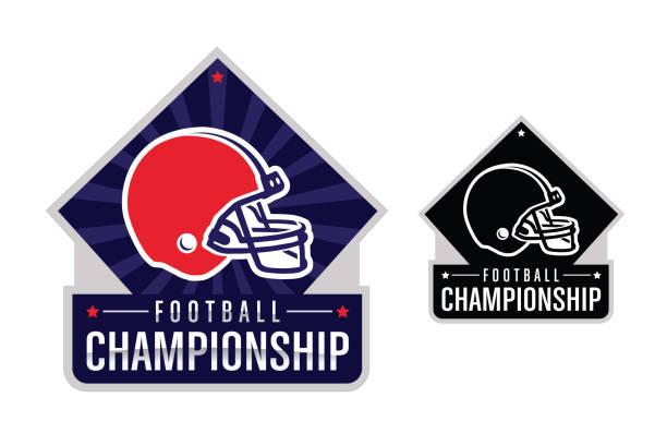 stockillustraties, clipart, cartoons en iconen met american football championship illustratie - kampioenschap