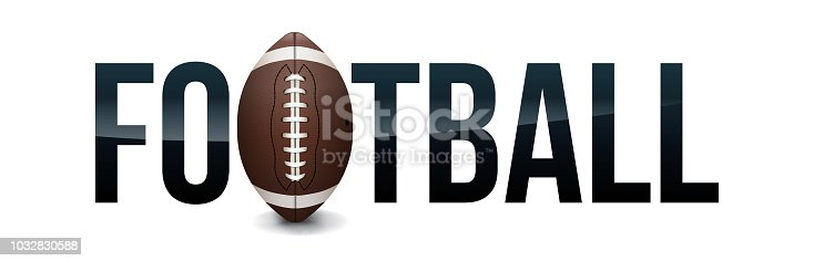 An American football and ball word are theme illustration. Vector EPS 10 available.