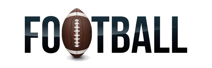 American Football Concept Word Art Illustration