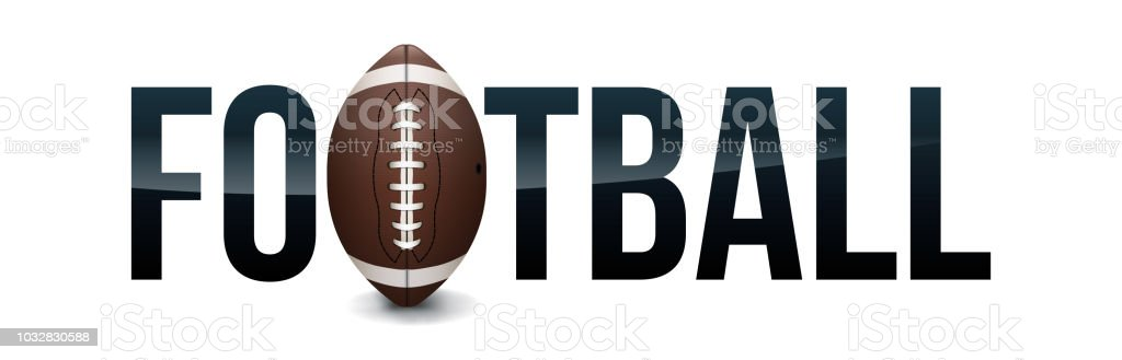 American Football Concept Word Art Illustration vector art illustration