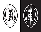 American Football Emblem Icon Illustration
