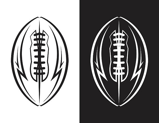 american football emblem icon illustration - football stock illustrations, clip art, cartoons, & icons