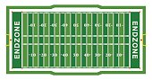 American Football Field Aerial View Illustration