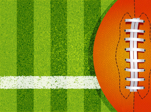 american football field and ball - football field stock illustrations