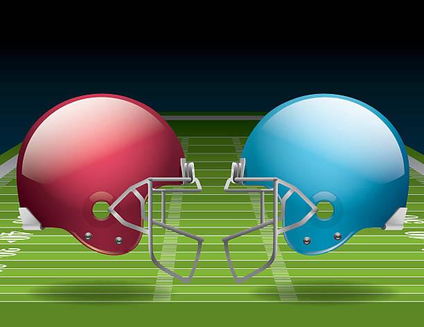 ilustrações de stock, clip art, desenhos animados e ícones de campo e capacetes de futebol americano - primeiro down futebol americano