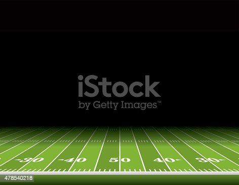 American Football Field Background Illustration
