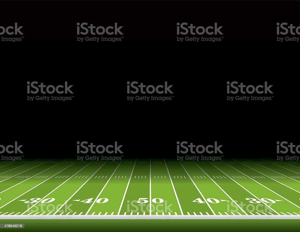 Ilustración de fondo de campo de fútbol americano - ilustración de arte vectorial