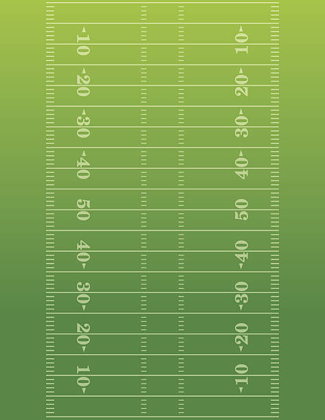american football field background illustration - football field stock illustrations