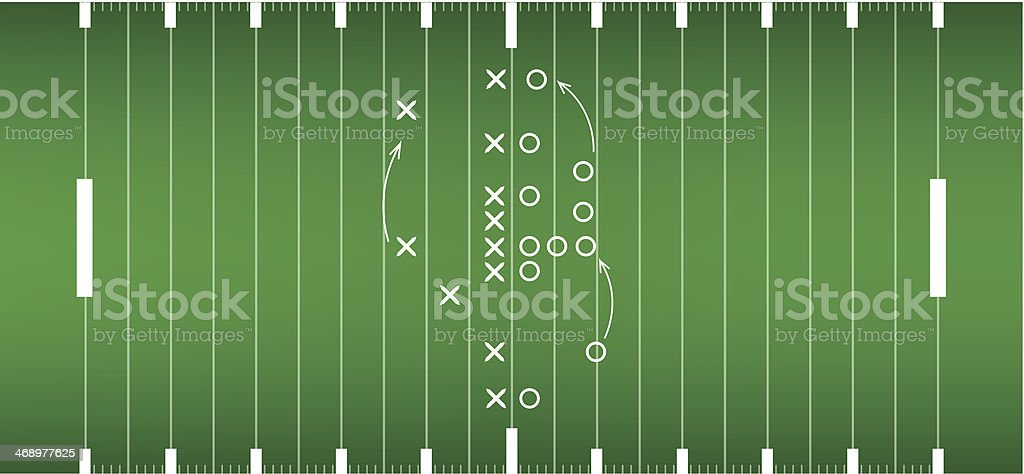 american football field background in view from above vector art illustration