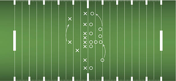 american football field background in view from above - football field stock illustrations