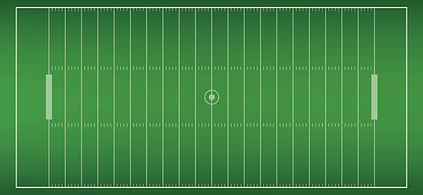 american football field background with artificial turf. soccer field - football field stock illustrations