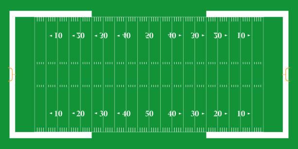 American football field. EPS 10 American football field. EPS 10 american football field stock illustrations