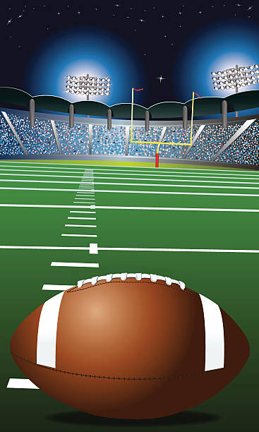 "American Football Field, Stadium Background American Football Field, Stadium Background illustration. Check out my ""American Football Vector"" light box for more. ncaa college football stock illustrations"