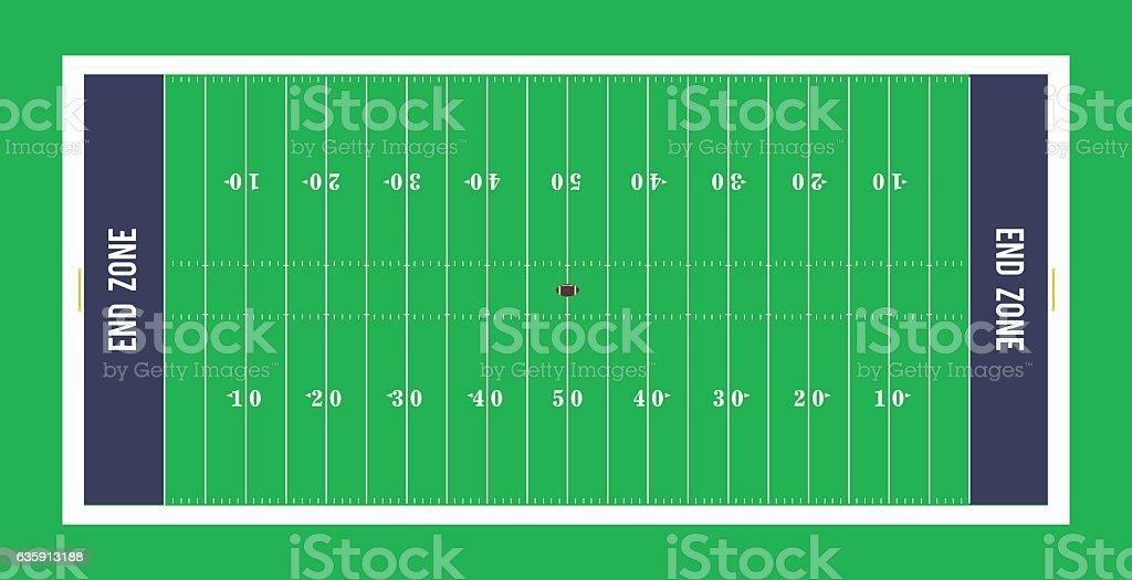 American football field top view.Vector illustration. vector art illustration