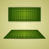 American football field. Vector EPS10 illustration