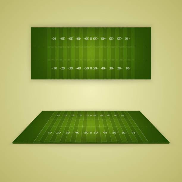 American football field. Vector EPS10 illustration American football field. Vector EPS10 illustration american football field stock illustrations