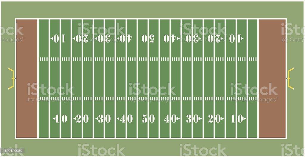 American football field royalty-free stock vector art