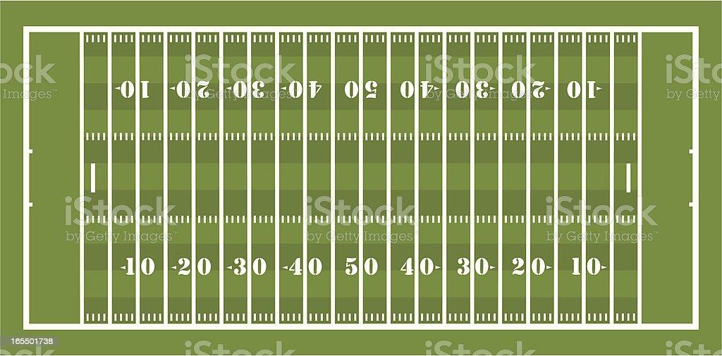 American Football Field vector art illustration